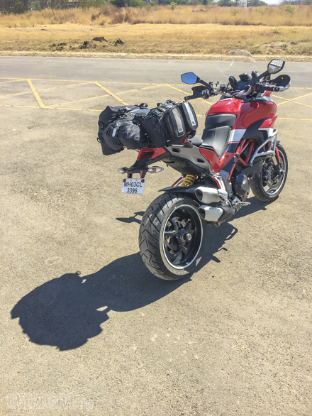 2016 Ducati Multistrada 1200S with a full complement of luggage
