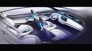 2017 Shanghai Motor Show: Skoda previews the Vision E concept's interior