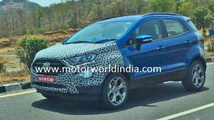 Spied: 2017 Ford EcoSport caught testing in India