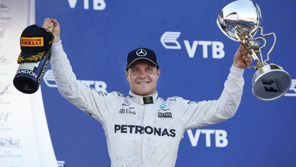 Valtteri Bottas claimed victory at the 2017 Russian GP, his first win in Formula 1