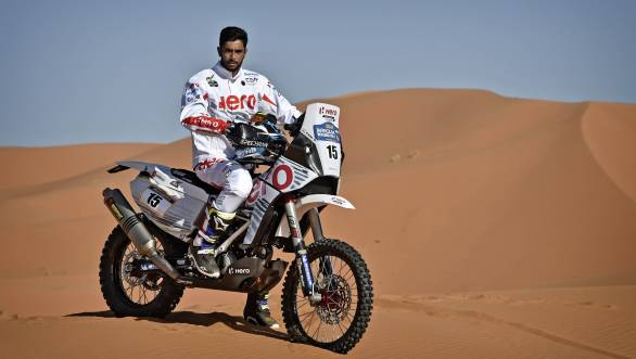 CS Santosh is ready to get back in the saddle for Hero MotoSports Team Rally at the 2017 Merzouga Rally in Morocco