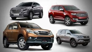 Spec comparison: 2017 Isuzu MU-X vs Toyota Fortuner vs Hyundai Tucson vs Ford Endeavour