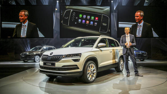 The Skoda Karoq will compete with the likes of Hyundai Tucson and Volkswagen Tiguan
