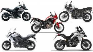 Spec comparison: Honda Africa Twin vs Ducati Multistrada 950 vs Kawasaki Versys 1000 vs Triumph Tiger 800 XCA vs Suzuki V-Strom 1000