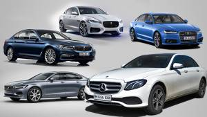 Spec comparison: Mercedes-Benz E220d LWB vs Audi A6 35 TDI vs Jaguar XF 2.0 diesel vs BMW 520d vs Volvo S90 D4