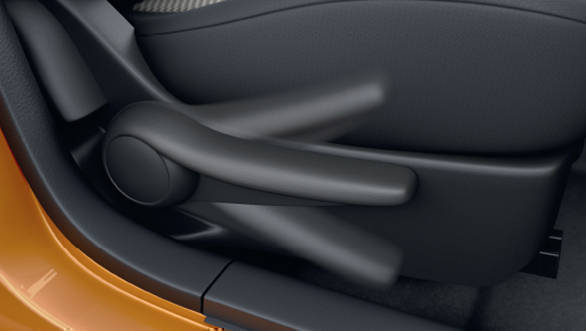 The top of the line trim comes with height adjustment driver seat