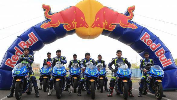 Participants in the selection round of the 2016 Red Bull Road to Rookies Cup
