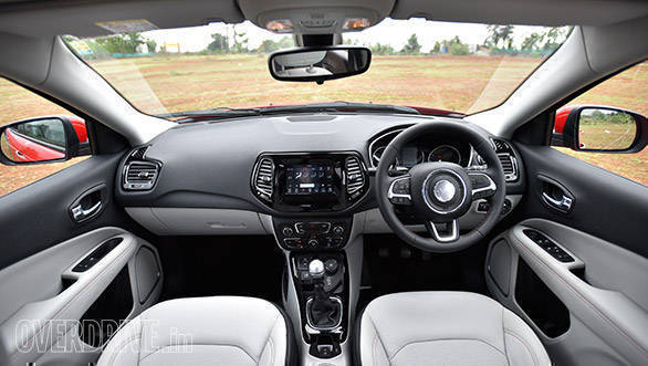 The Jeep Compass's interior looks luxurious and is well built. However, there aren't too many storage spaces