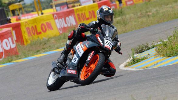 Amarnath Menon, winner of Super Sport Indian (300-400cc) race (June 10)