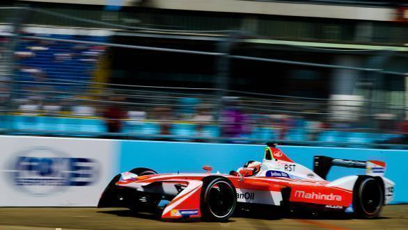 Rosenqvist on his way to victory at the 2017 Berlin ePrix