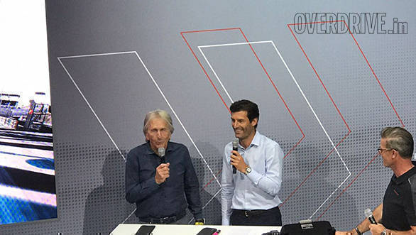Always terrific to listen to Derek Bell talk about his motorsport memories. Here he is with Mark Webber who is grand marshal of Le Mans this year
