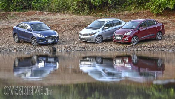 Maruti Suzuki Dzire vs Tata Tigor vs Hyundai Xcent-147