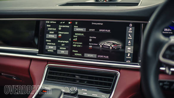 The 12.3-inch touchscreen on the 2017 Porsche Panamera Turbo offers a whole lot of information! However, reaching the far end of the screen from the driver's seat is a bit of a stretch