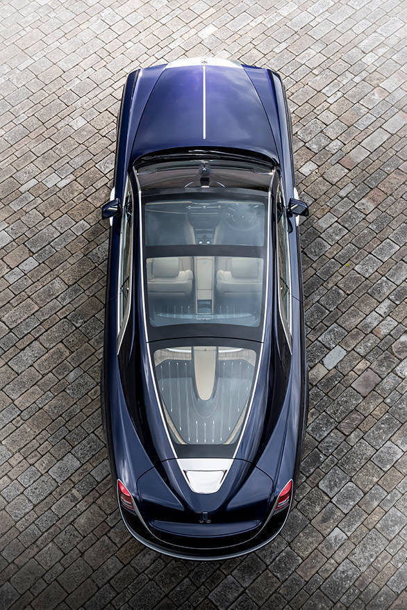 The Sweptail features the largest panoramic sunroof  seen in a production car