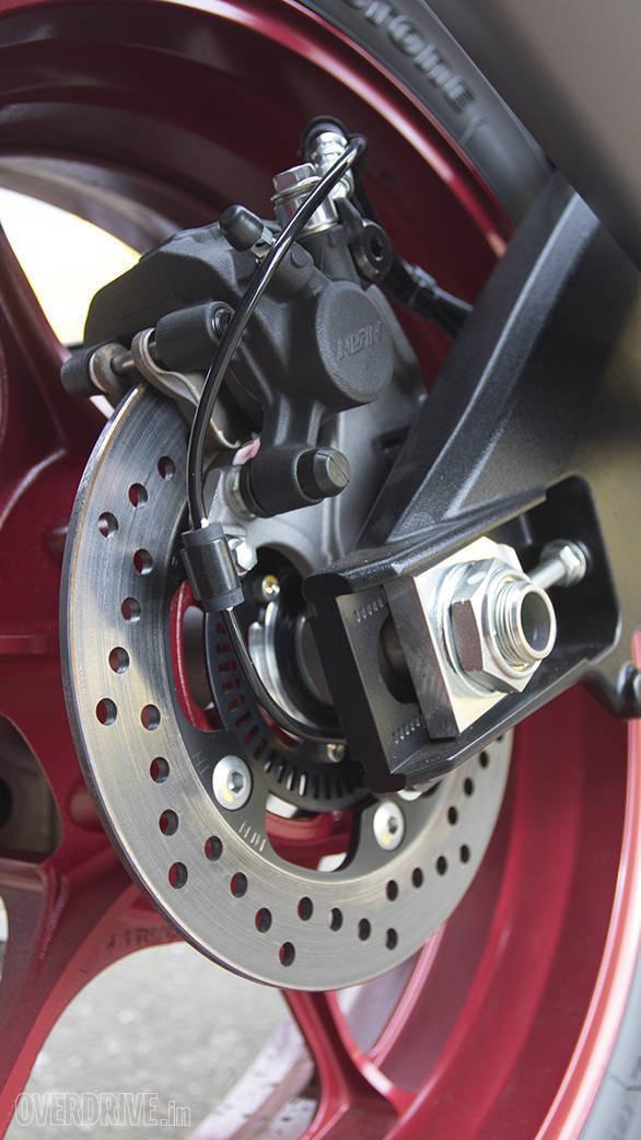 2017 Suzuki GSX-R1000A rear brake detail