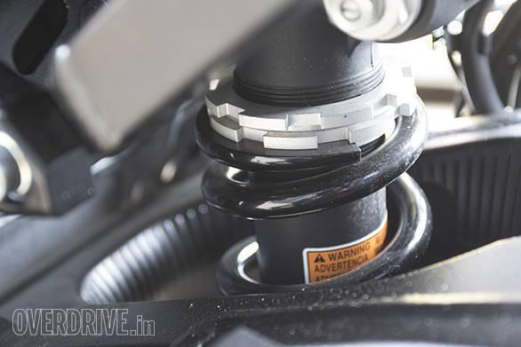 2017 Suzuki GSX-R1000A rear suspension detail