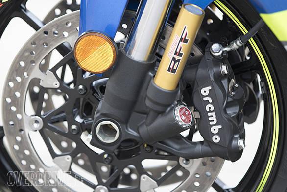 2017 Suzuki GSX-R1000R front suspension detail