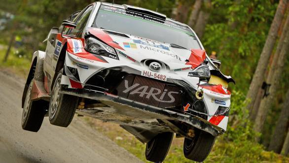 Juho Hanninen rounded off the podium, with a third place for Toyota
