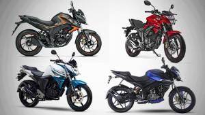 Spec comparison: Bajaj Pulsar 160NS vs Yamaha FZ16 vs Suzuki Gixxer vs Honda Hornet