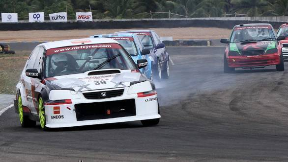 Deepak Paul Chinnappa leads the way in the second ITC race.
