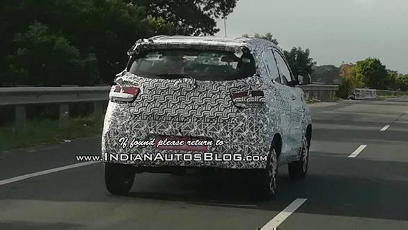 Mahindra-KUV100-Facelift-Spy-Shots-Rear-Three-Quarters-1024x819