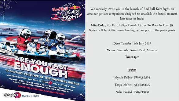 Media Invite - Red Bull Kart Fight Launch