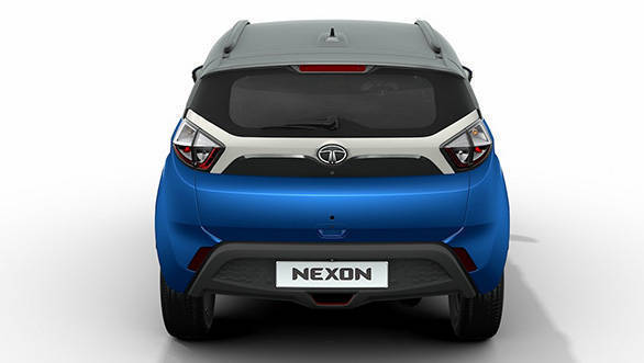 2017 Tata Nexon: The rear profile does remind of the compact dimensions of the Ford EcoSport