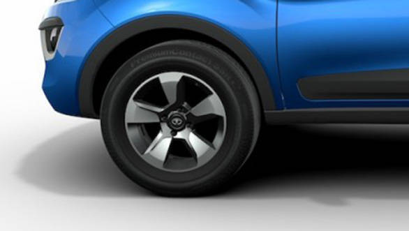 2017 Tata Nexon: The SUV rides on 17-inch alloys on the top trims while the base units could see 15-inchers