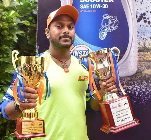Venkatesh Shetty wins Gulf Monsoon Scooter Rally 2017
