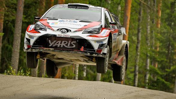 Esapekka Lappi en route his first World Rally Championship victory in only his fourth WRC event