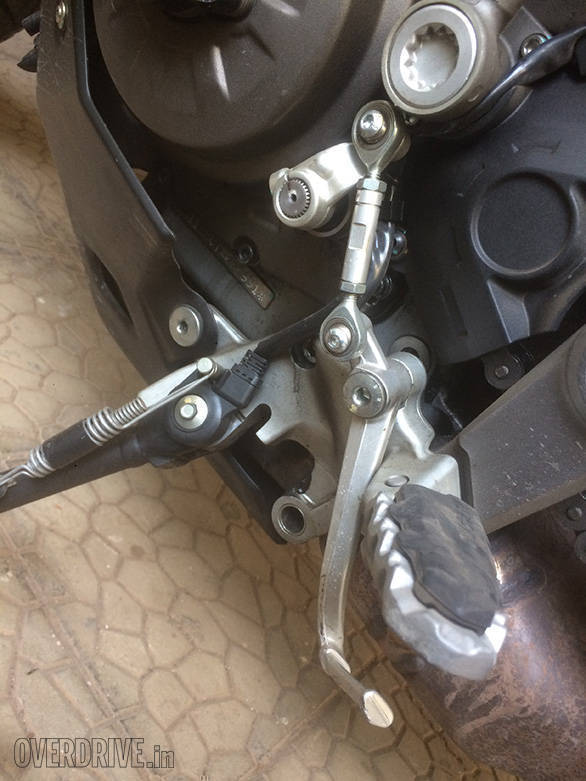 ...except for the gear lever