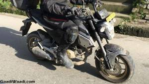Honda Grom spotted testing in India!