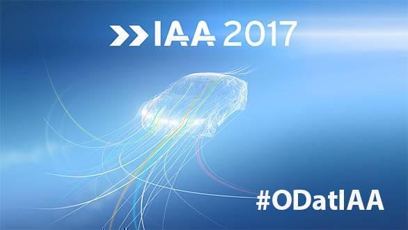2017 Frankfurt Motor Show Logo with OD hashtag