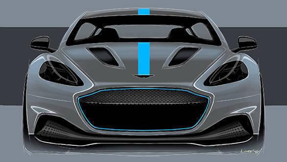 Aston Martin RapidE Front Sketch