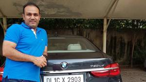 Sehwag thanks Sachin for gift of BMW 7 Series car worth Rs 1.14 crore