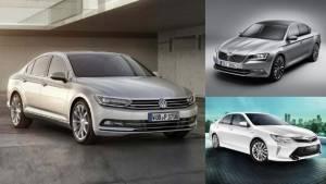 Spec comparison: 2017 Volkswagen Passat vs Skoda Superb vs Toyota Camry