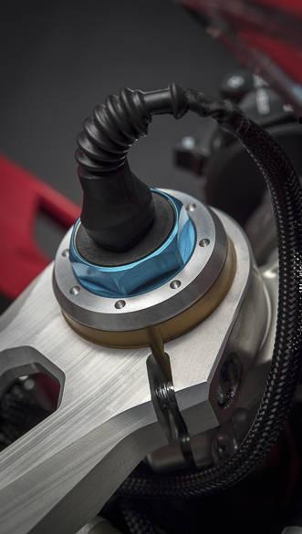 Ducati Panigale V4 S suspension studio detail