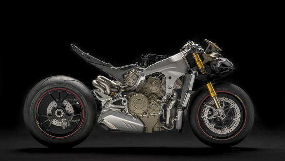 Ducati Panigale V4 S exposed right side studio static