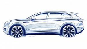 2019 Volkswagen Touareg SUV teased, to debut on March 23
