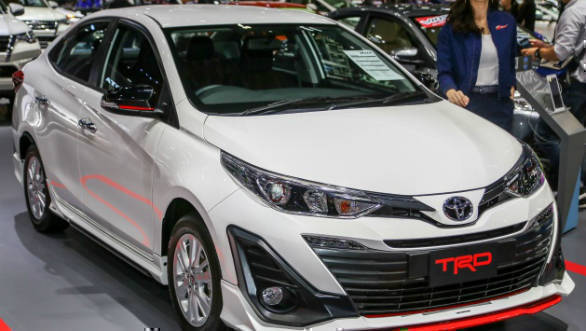 Toyota Yaris TRD shown at 2018 Bangkok Motor show