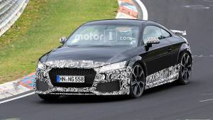 2019 Audi TT RS spied at the Nurburgring, likely to be revealed later this month
