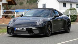 2019 Porsche 911 Speedster spied testing