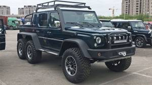 Mercedes-AMG G63 6x6 inspires the BAIC BJ80 6x6 in China, showcased at Auto China 2018