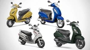 Spec Comparision: Honda Activa 5G vs Hero Maestro Edge vs TVS Jupiter vs Suzuki Access 125