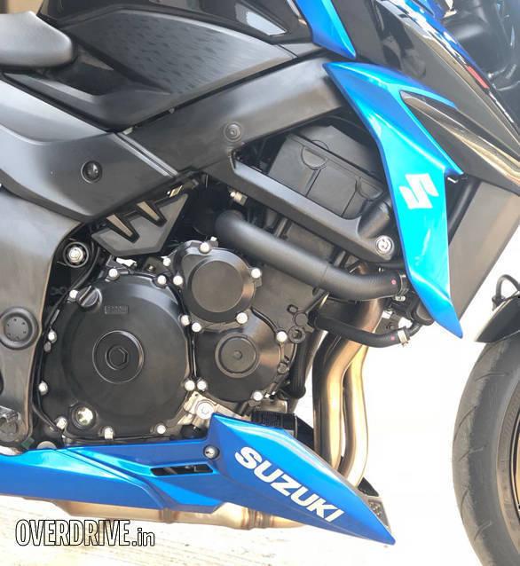 2018 Suzuki GSX-S750   Buddh International Circuit   Detail   Engine