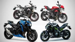 Spec comparison: Suzuki GSX-S750 vs Kawasaki Z900 vs Triumph Street Triple RS and S