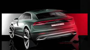 Upcoming Audi Q8 flagship SUV teaser sketch shown