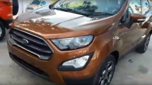 Ford Ecosport Titanium S compact SUV walk-around video reveals detailed changes