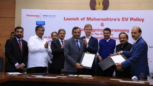 Mahindra group and Maharashtra government sign MoUs to expand presence of EVs in the state.