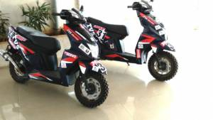 TVS Racing to debut the race version of the Ntorq scooter, the Ntorq SXR at INRC Nashik